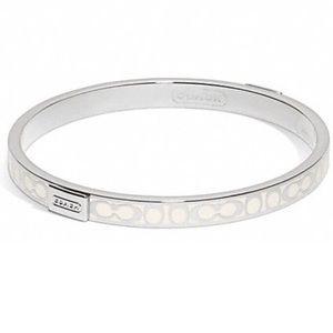 Coach Signature Thin Bangle Bracelet
